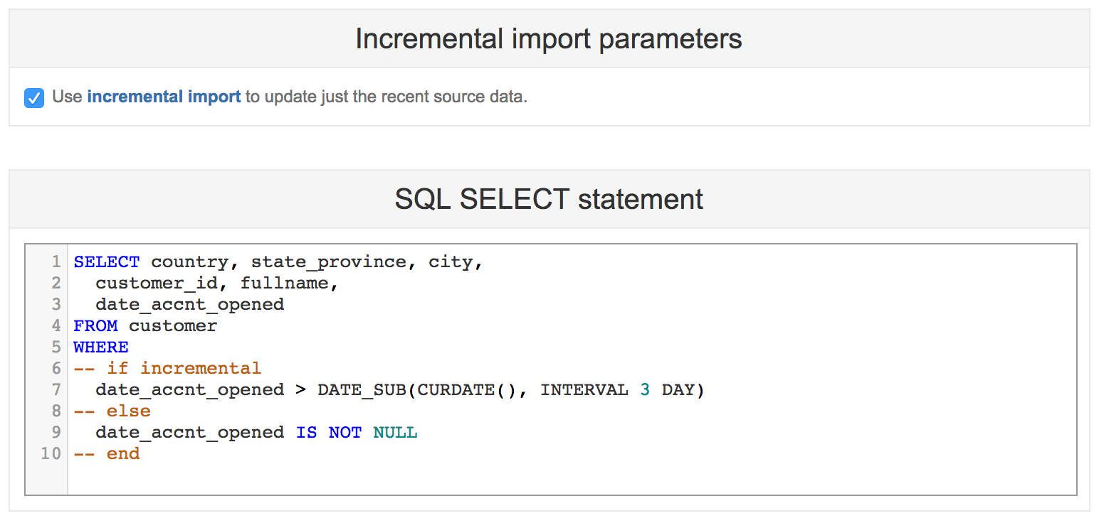 Import from SQL - eazyBI